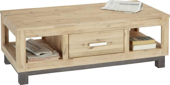 Couchtisch Holz - Akaziefarben, KONVENTIONELL, Holz (120/42/60cm) - Zandiara