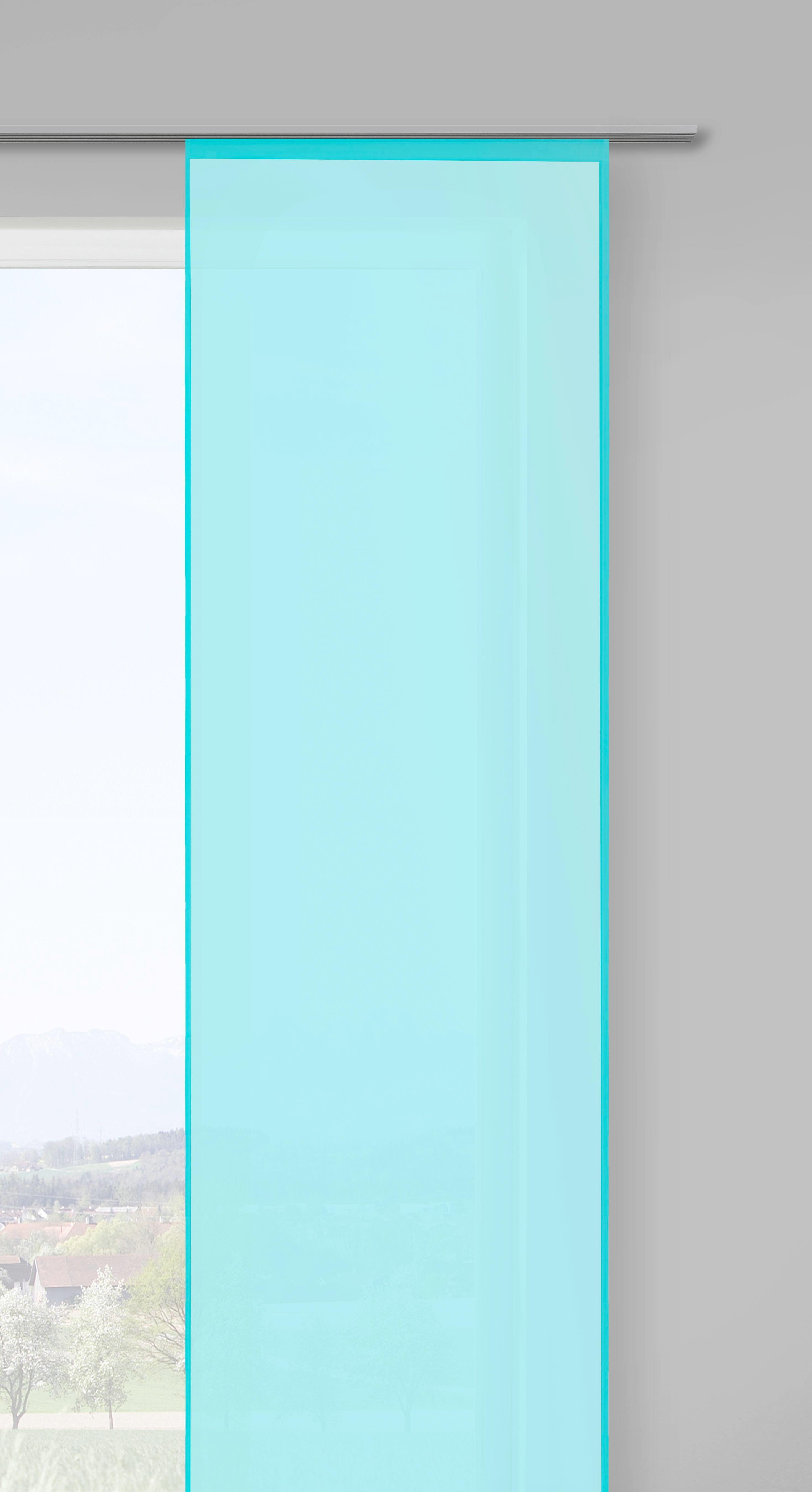 Flächenvorhang Stella Uni, ca. 60x245cm - Grün, ROMANTIK / LANDHAUS, Textil (60/245cm) - MÖMAX modern living