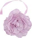 Függönyelkötő Rose - rózsaszín/antracit, romantikus/Landhaus, textil (11cm) - MÖMAX modern living