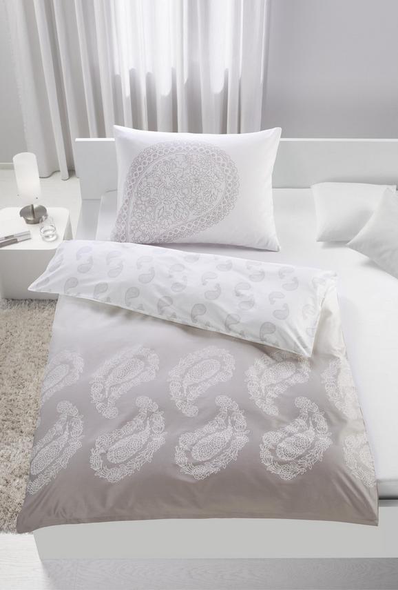 Mako-Satinbettwäsche Paisley Paisley ca.200x200 cm - Taupe/Weiß, LIFESTYLE, Textil (200/200cm) - Premium Living
