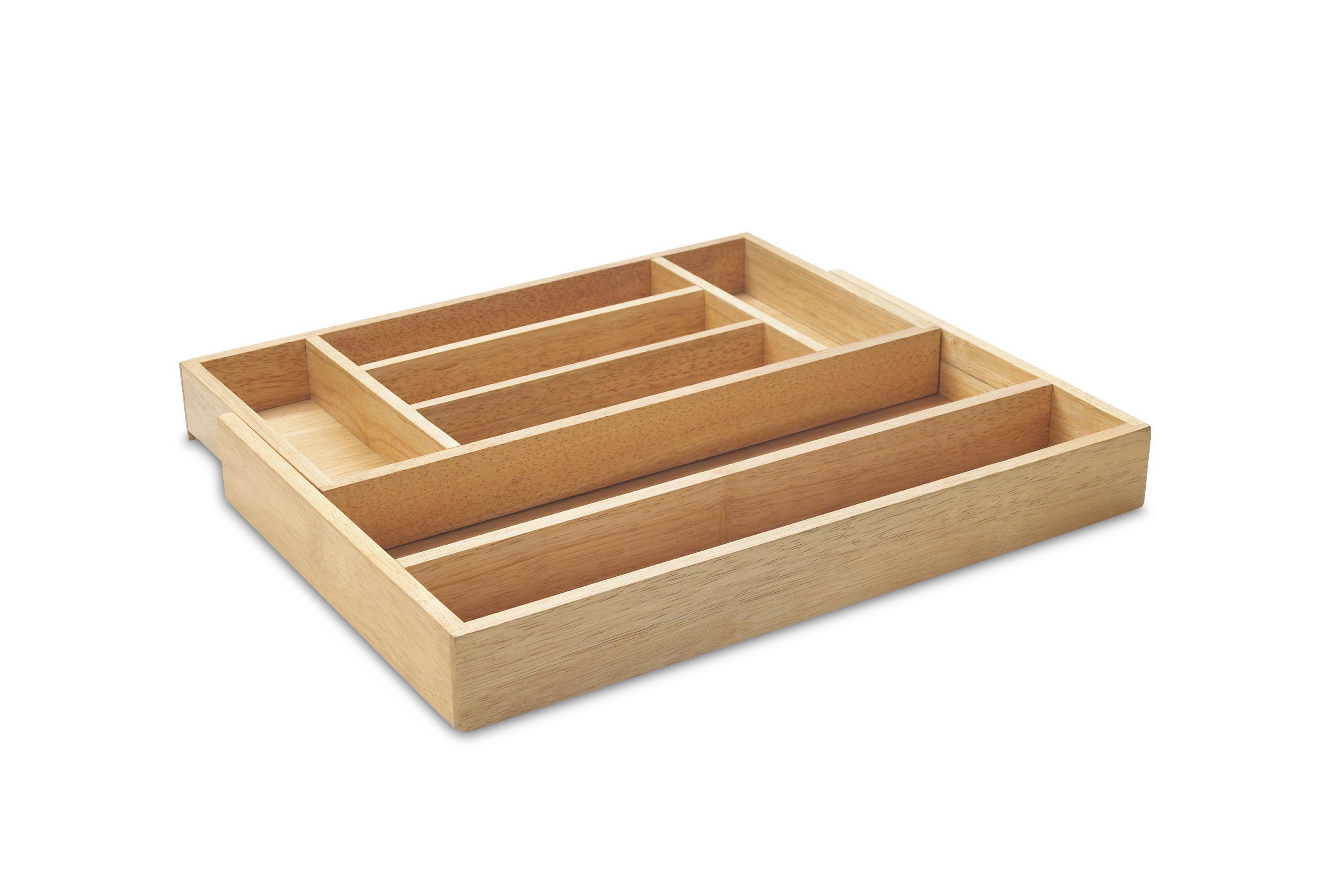 Besteckeinsatz aus Holz - Naturfarben, KONVENTIONELL, Holz (41/5/28cm) - MÖMAX modern living