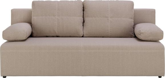 Sofa in Beige - Beige/Schwarz, KONVENTIONELL, Kunststoff/Textil (202/88/84cm) - Mömax modern living