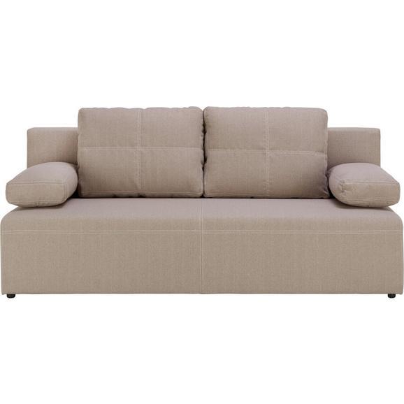 Trosjed Na Razvlačenje München - bijela/bež, Konventionell, tekstil/plastika (202/88/84cm) - Mömax modern living