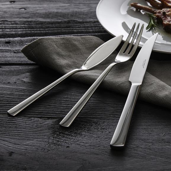 Echtwerk Steakbesteck Sarre 18-teilig - Edelstahlfarben, MODERN, Metall - Echtwerk