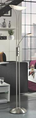 Állólámpa Lupo - fehér, konvencionális, üveg/fém (30/180cm) - MÖMAX modern living