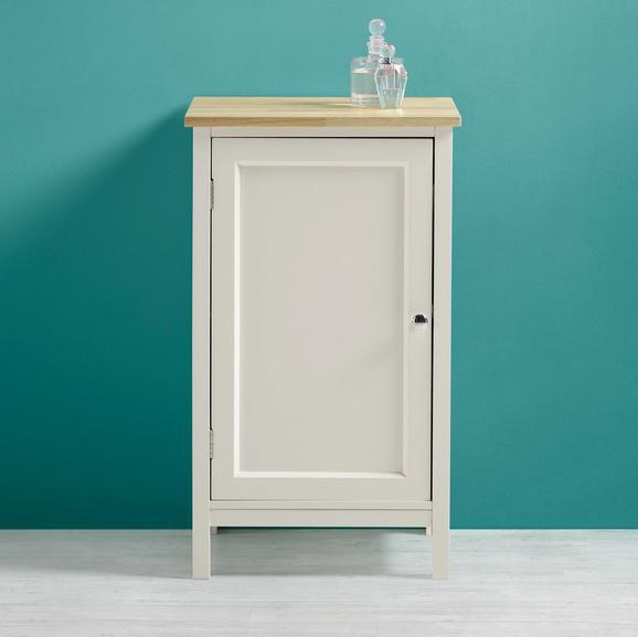 Unterschrank Jule - Fichtefarben/Weiß, MODERN, Holz/Metall (40/68/38cm) - Modern Living