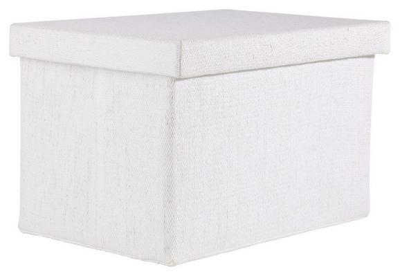 Aufbewahrungsbox Cindy - Weiß, MODERN, Textil (38/26/24cm) - MÖMAX modern living