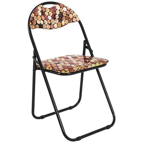 Zložljiv Stol Corc - črna/večbarvno, Moderno, kovina/umetna masa (44/80/47cm) - Mömax modern living