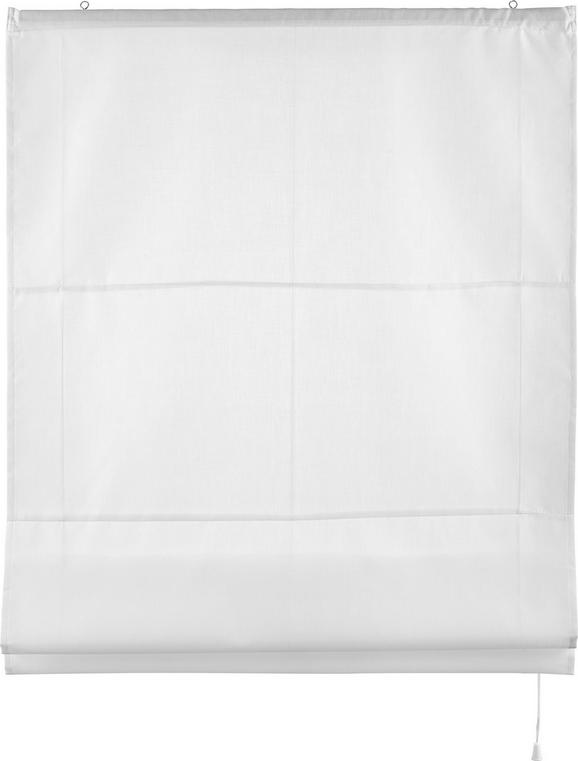 Raffrollo Finn in Weiß, ca. 100x170cm - Weiß, Textil (100/170cm) - MÖMAX modern living