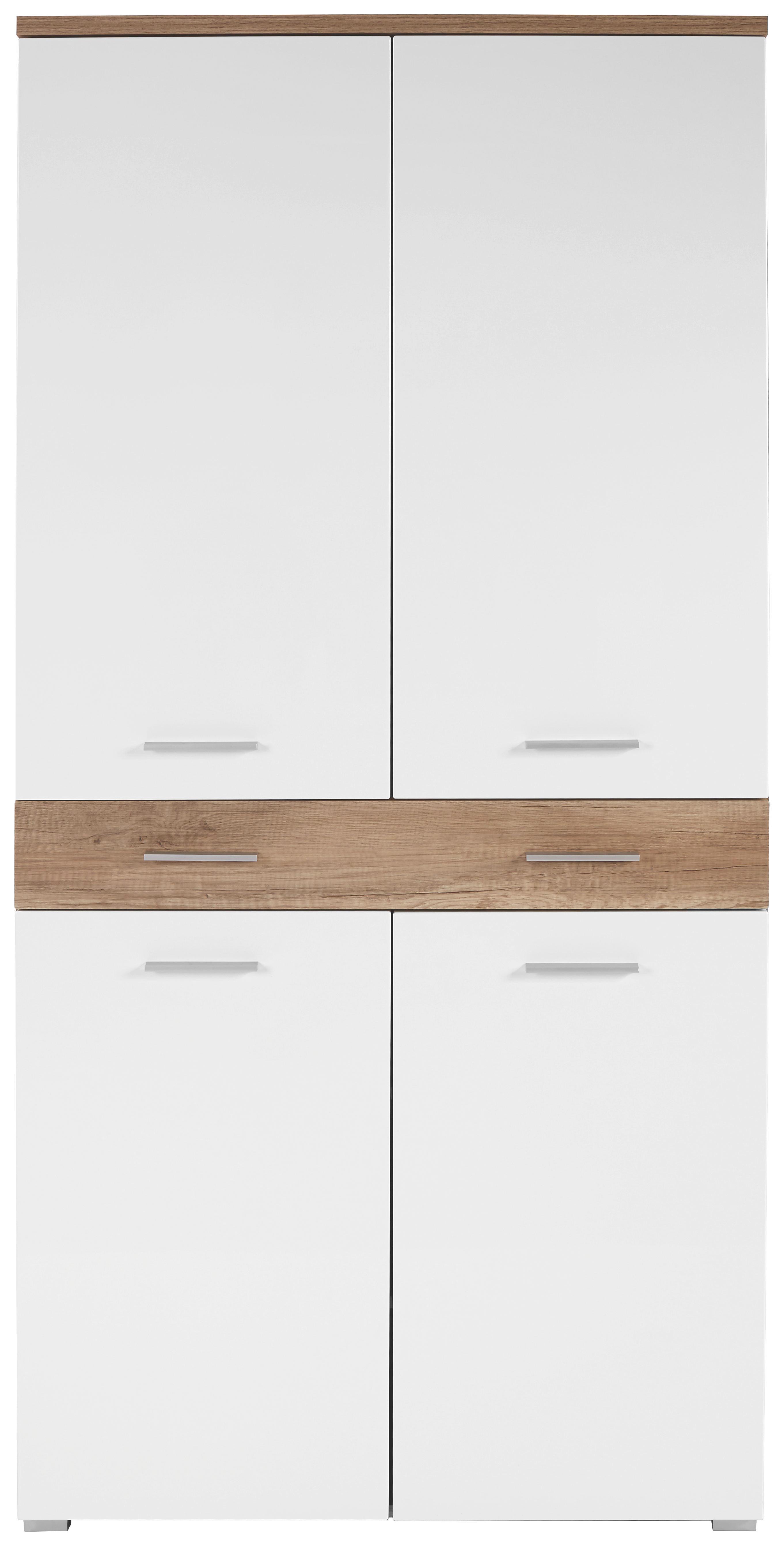 Cipősszekrény Space - tölgy színű/fehér, modern (100/199/35cm)