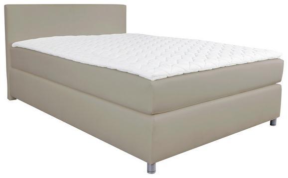 Postelja Boxspring Ascari - aluminij/sivo rjava, Moderno, umetna masa/tekstil (160/200cm) - Mömax modern living