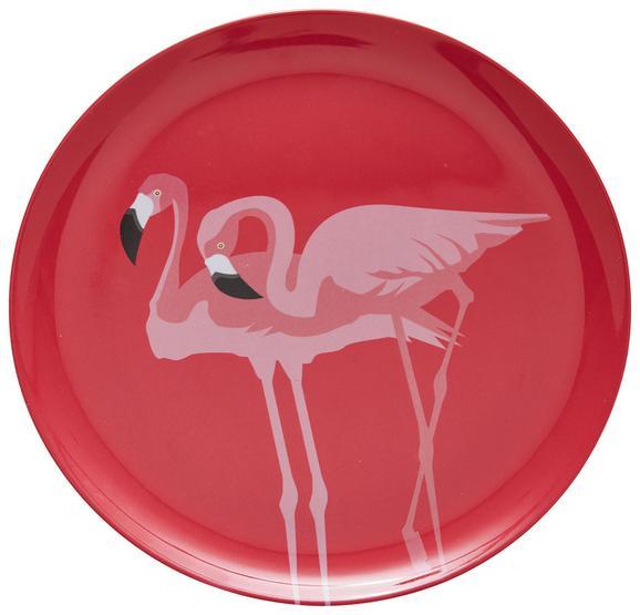 Plitvi Krožnik Flamingo Couple - roza, Trend, umetna masa (25,2cm) - Mömax modern living