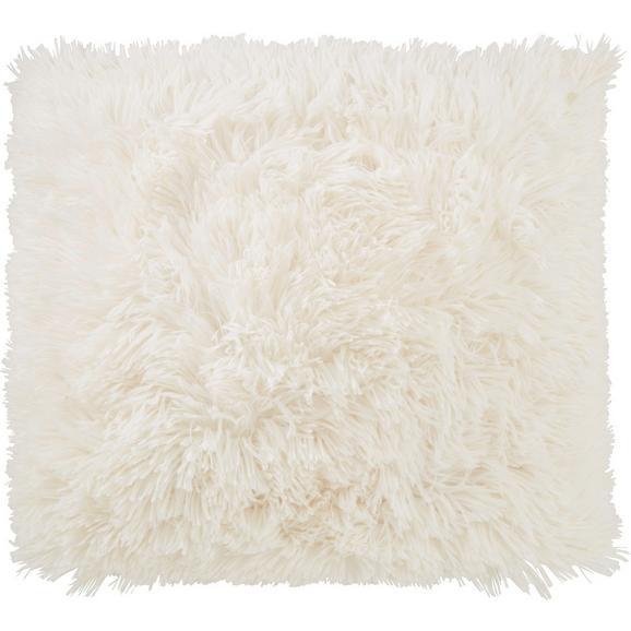 Zierkissen Fluffy in Creme, ca. 45x45cm - Weiß, Textil (45/45cm) - Mömax modern living
