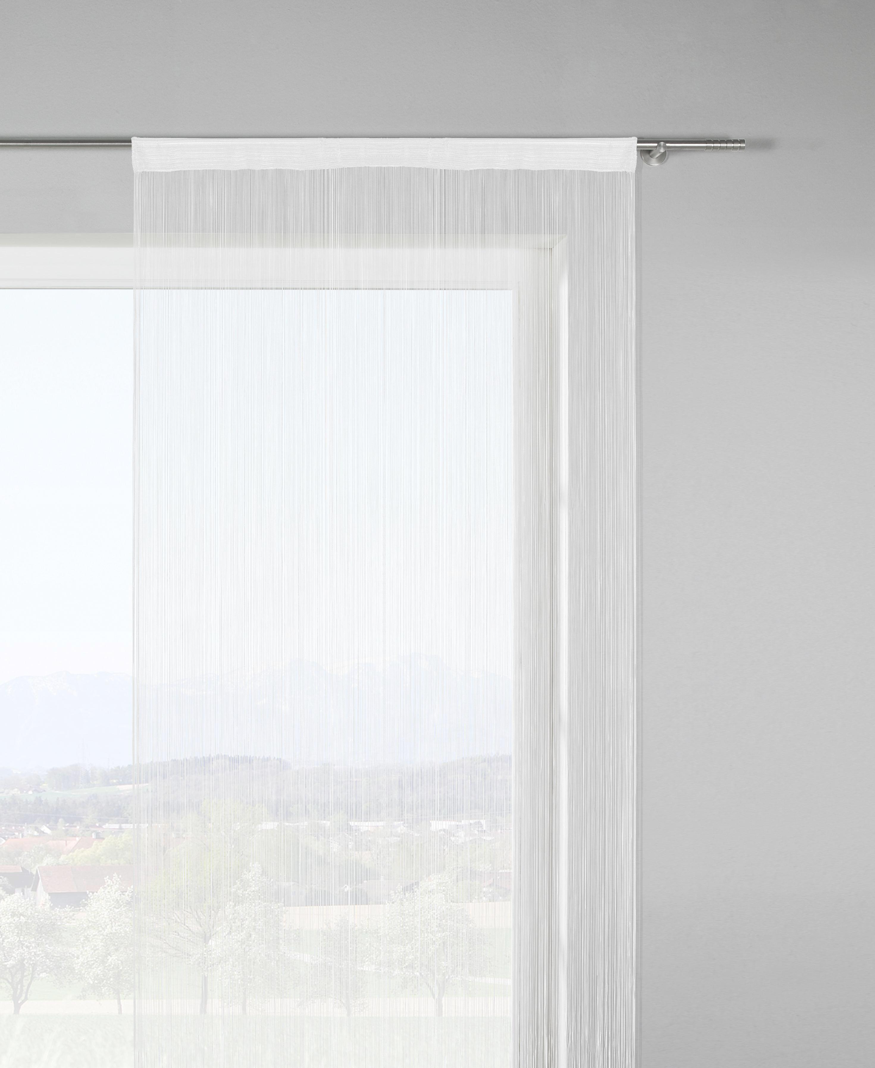 Fadenstore Franz in Weiß, ca. 90x245cm - Weiß, Textil (90/245cm) - MÖMAX modern living