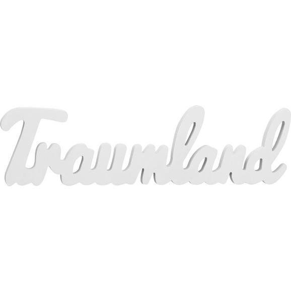 Dekobuchstaben Traumland Weiß - Weiß, MODERN, Holzwerkstoff (48/13/1,2cm) - Mömax modern living
