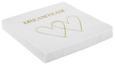 Serviette Dreamteam Gold/Weiß - Goldfarben/Weiß, Papier (33/33cm)