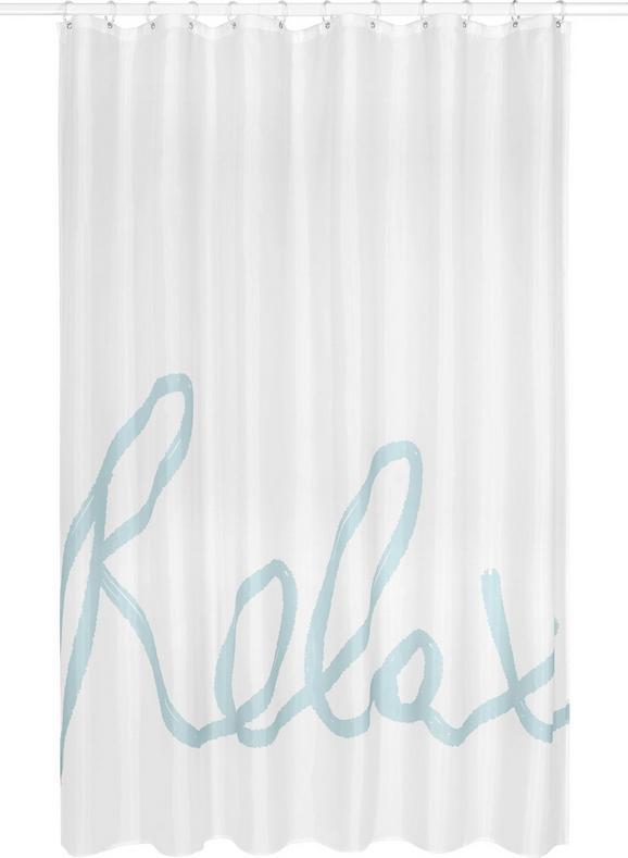 Duschvorhang Relax, ca. 180x200cm - Weiß/Mintgrün, MODERN, Textil (180/200cm) - MÖMAX modern living