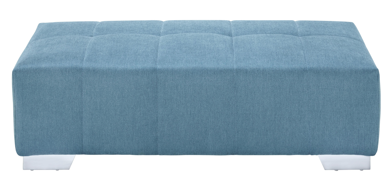 Hocker Liliental - Türkis/Chromfarben, Textil/Metall (130/40/60cm)