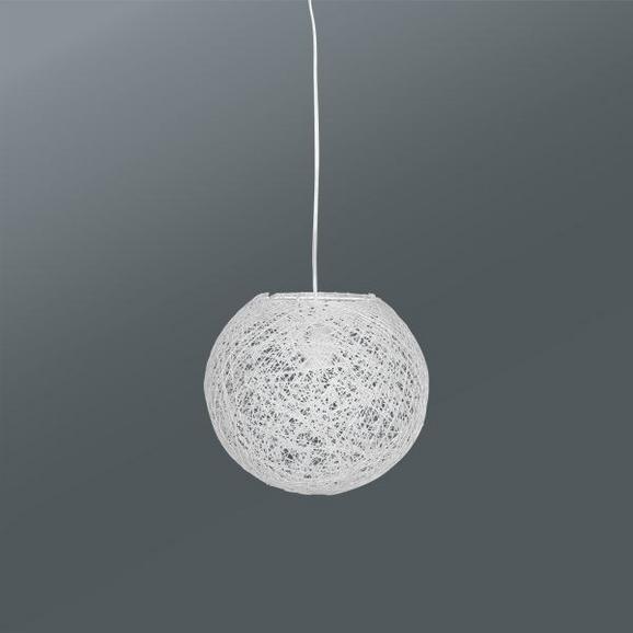 Viseča Svetilka Sophia - bela, Trendi, umetna masa/ostali naravni materiali (50cm) - Mömax modern living