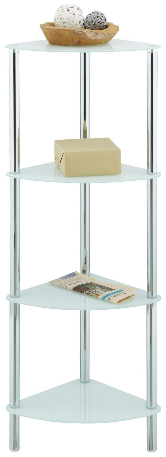 Regal in Weiß - Chromfarben/Weiß, MODERN, Glas/Metall (29/100/29cm) - MÖMAX modern living