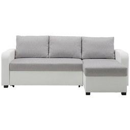 Sedežna Garnitura Clint - siva/bela, Konvencionalno, tekstil (225/152cm) - Modern Living