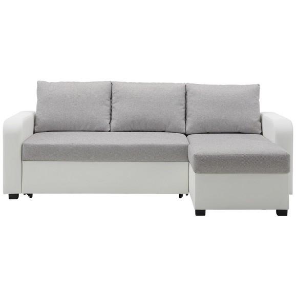 wohnlandschaft in wei grau ca 224x157cm online kaufen m max. Black Bedroom Furniture Sets. Home Design Ideas