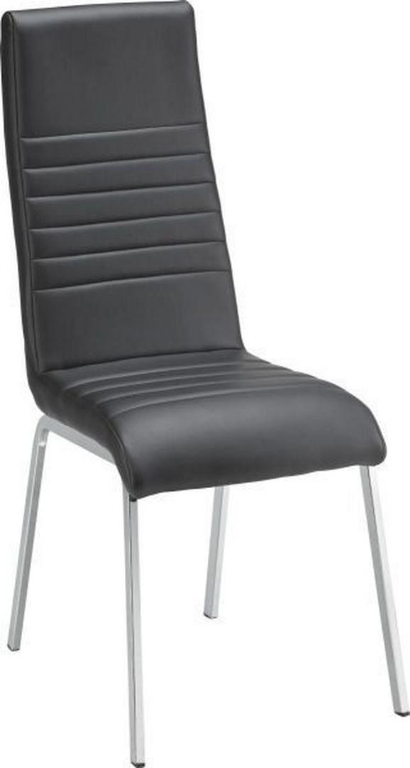 Stuhl in Schwarz - Chromfarben/Schwarz, MODERN, Textil/Metall (43/100/58cm) - MÖMAX modern living