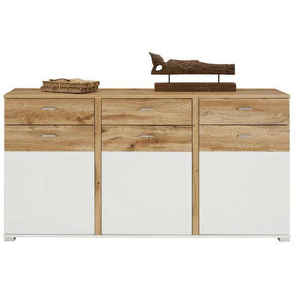 Sideboard in Eichefarben - Chromfarben/Eichefarben, MODERN, Holzwerkstoff/Metall (170/88/44cm) - Modern Living