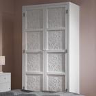 Kleiderschrank Valentina - Weiß/Pinienfarben, MODERN, Holz (95/190/48cm) - Modern Living