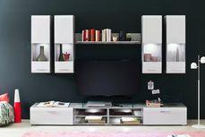 Dnevni Regal Spider - siva/bela, Moderno, leseni material (270/183/41cm) - Mömax modern living