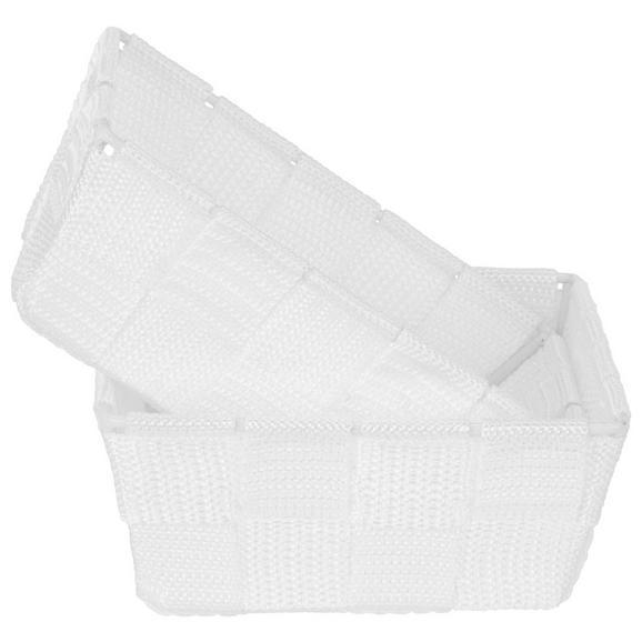 Aufbewahrungskörbchen Carina in Weiß - Weiß, Kunststoff (15/10/5,5cm)