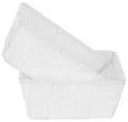 Aufbewahrungskörbchen Carina Weiß - Weiß, Kunststoff (15/10/5,5cm)