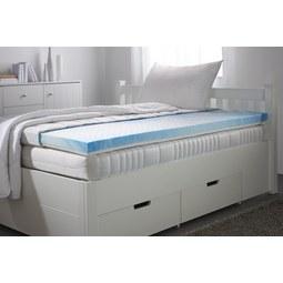 Topper aus Gelschaum ca. 160x200cm - Weiß, Textil (160/200cm)