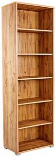 Pisarniški Regal Profi - hrast/krom, Moderno, umetna masa/leseni material (75/220/35cm) - Mömax modern living