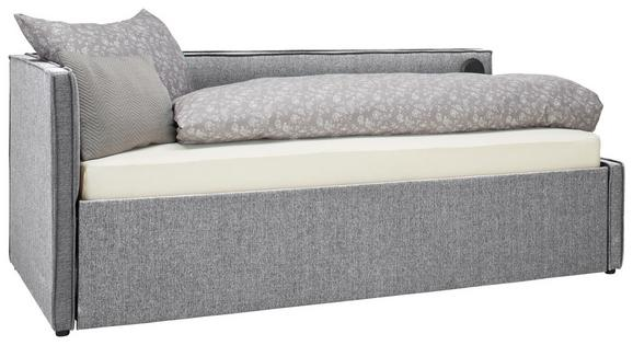 Ausziehbett Hellgrau ca. 218x86x104cm - Hellgrau, KONVENTIONELL, Holzwerkstoff/Textil (218/86/104cm) - Premium Living