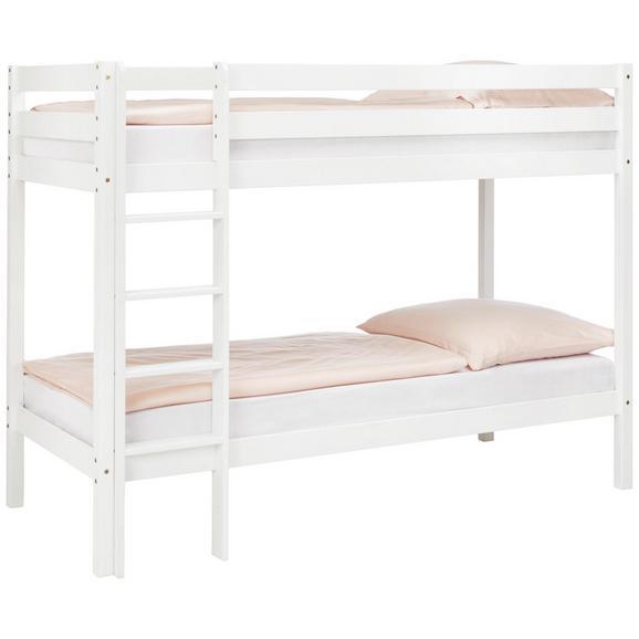 Etagenbett Weiß ca. 90x200cm - Weiß, LIFESTYLE, Holz (90/200cm) - Based