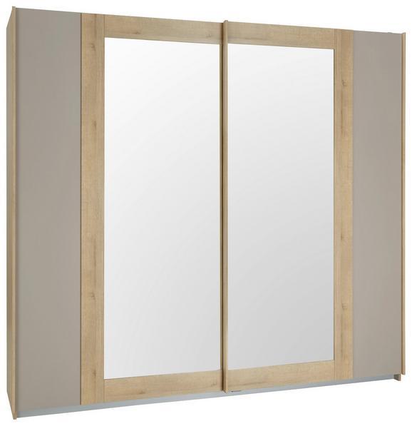 Schwebetürenschrank Eiche/Fango - Fango/Eichefarben, KONVENTIONELL, Holzwerkstoff/Metall (181/210/62cm) - Modern Living