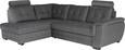 Sedežna Garnitura Falco - temno siva/temno rjava, Konvencionalno, kovina/umetna masa (183/251cm) - Mömax modern living