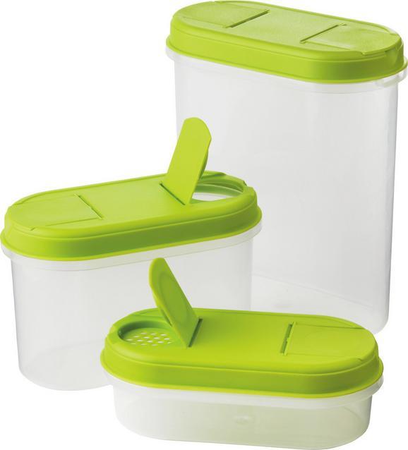 Tárolódoboz Ellery - áttetsző/zöld, műanyag (2,2 1,1 0,l) - Mömax modern living