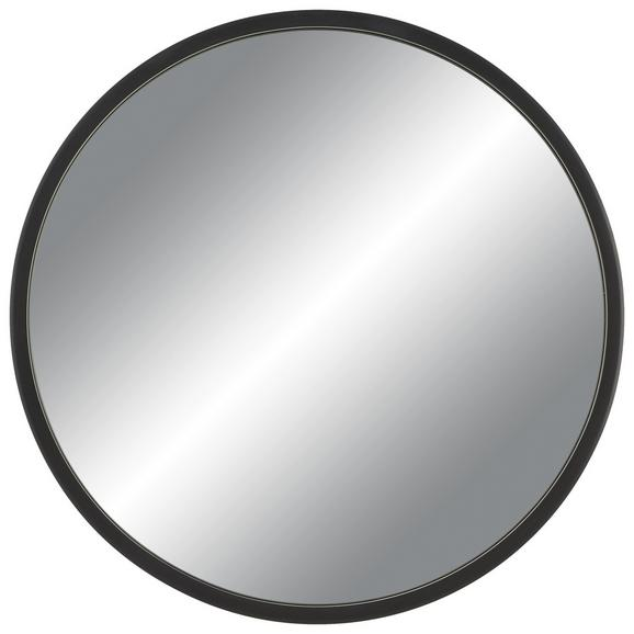 Wanddeko Kim Ø ca. 61cm - Schwarz, Glas/Holzwerkstoff (61cm) - Mömax modern living