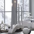 Kerzenhalter Renate Weiß - Weiß, Keramik (36,5/6/9,5cm)
