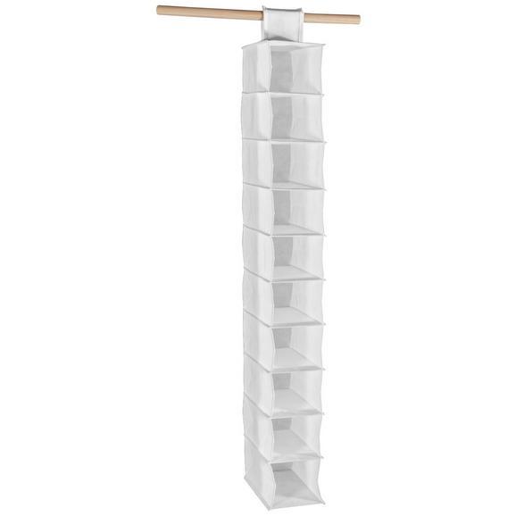 Depozitare Suspendată Cliff - alb, Modern, textil (15,5cm)