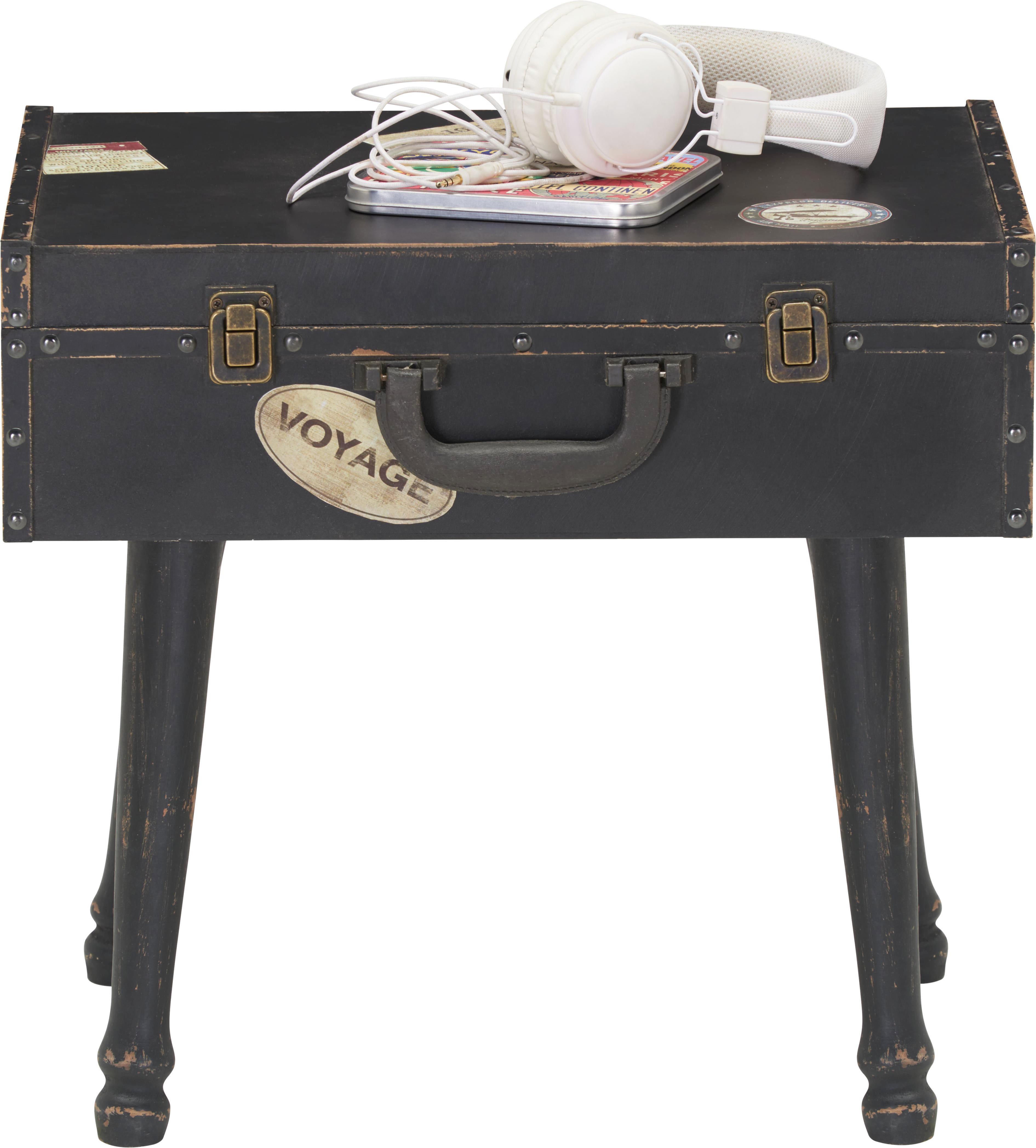 Kisasztal Maleta - fekete/kék, romantikus/Landhaus, fém/faanyagok (44/35/40cm) - premium living