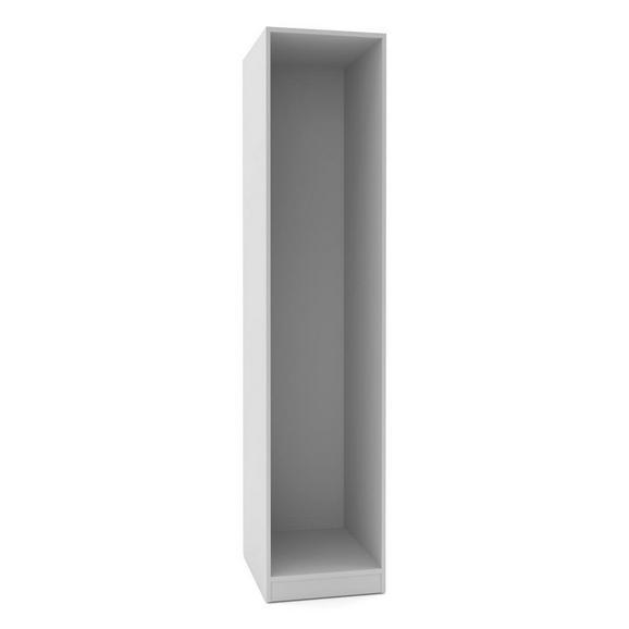 Kleiderschrankkorpus in Weiß - Weiß, MODERN, Holzwerkstoff (45,6/210/56,5cm) - Based