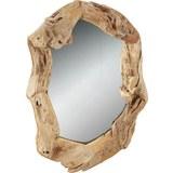 Wandspiegel in Braun, ca. 100x70x5cm - Braun/Teakfarben, Glas/Holz (100/70/5cm) - Mömax modern living