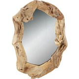 Wandspiegel Teakfarben - Braun/Teakfarben, Glas/Holz (100/70/5cm) - Mömax modern living