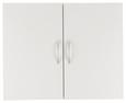 Viseča Omara Mrk - aluminij/bela, umetna masa/leseni material (80/64/40cm)