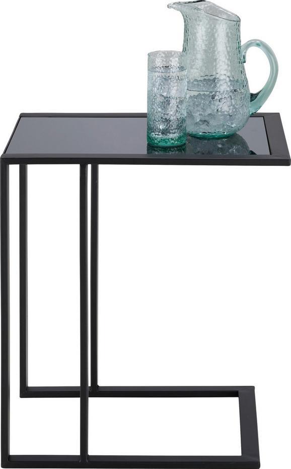 Beistelltisch in Schwarz - Schwarz, MODERN, Glas/Metall (50/40/55cm) - MÖMAX modern living