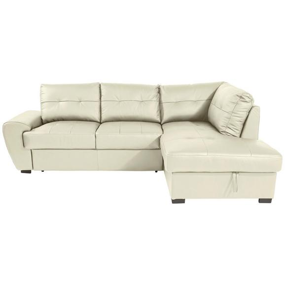 Sjedeća Garnitura Buner Ii - crna/krem, Konventionell, koža/tekstil (244/174cm) - Modern Living