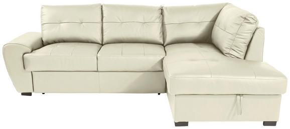 Sjedeća Garnitura L-oblika Burner Ii, 244 X 174 Cm - crna/krem, Konventionell, koža/tekstil (244/174cm)
